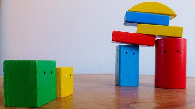 ブロックのおもちゃ